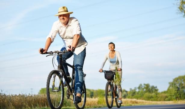 Fit durch Radfahren